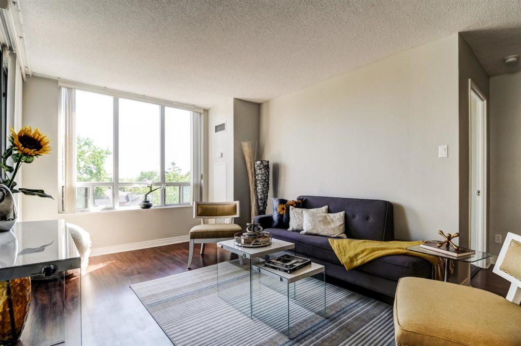 Living Room, 265 Doris, Toronto Condo Staging