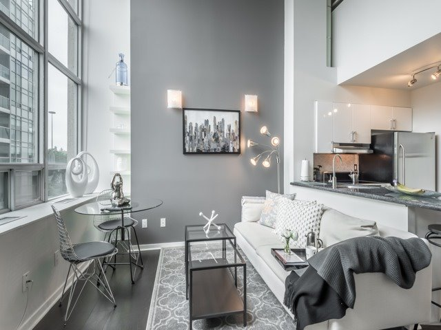 Living Room, 300 Manitoba, Toronto Condo Staging