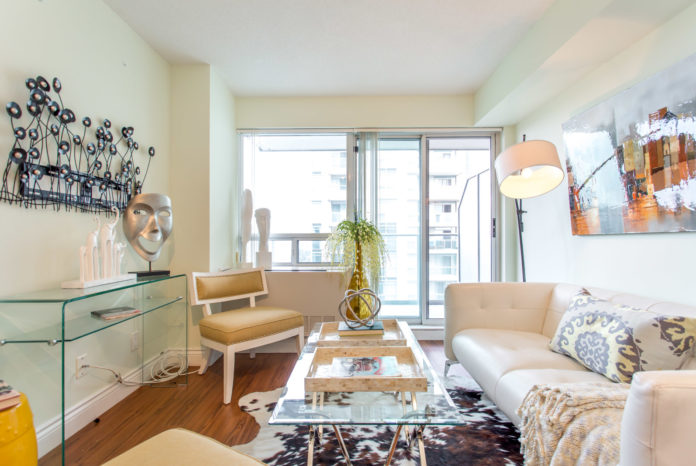 Living Room, 35 Bales, Toronto Condo Staging