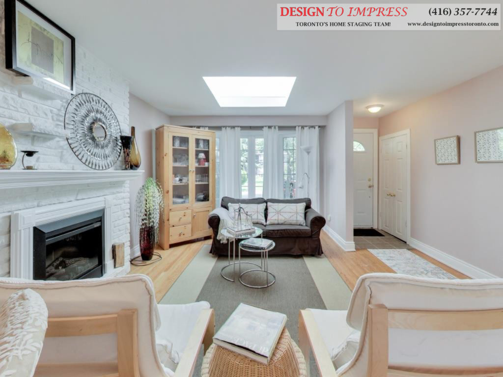 Living Room, 41 Bournville, Scarborough Home Staging