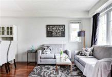 Living Room, 5050 Intrepid, Mississauga Home Staging