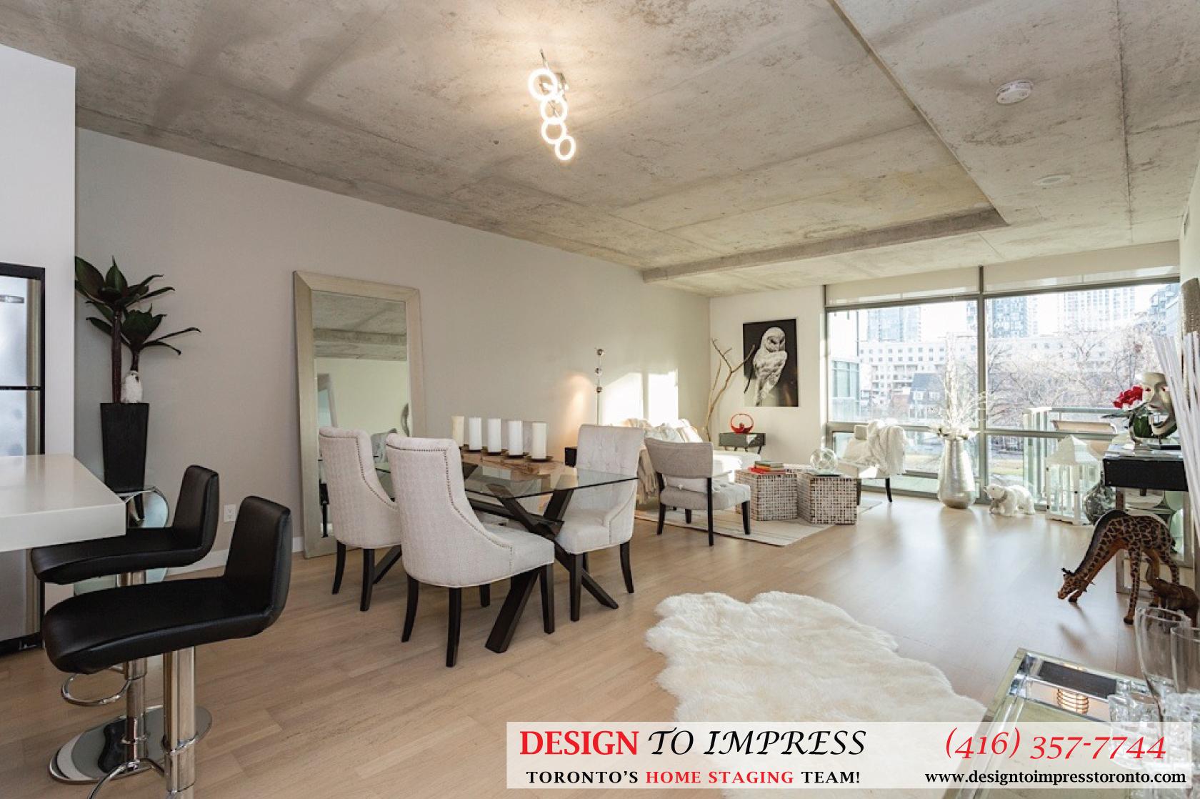 Living Room, 55 Stewart, Toronto Condo Staging