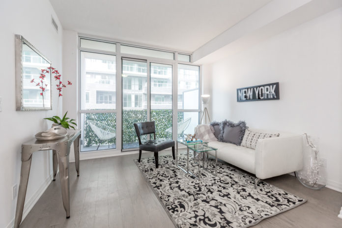 Living Room, 59 Annie Craig, Toronto Condo Staging