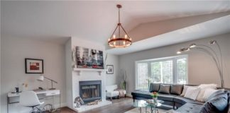 Living Room, 66 Springfield, Thornhill Home Staging