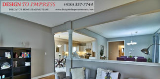 Living Room, 84 Barchester, Whitby Home Staging