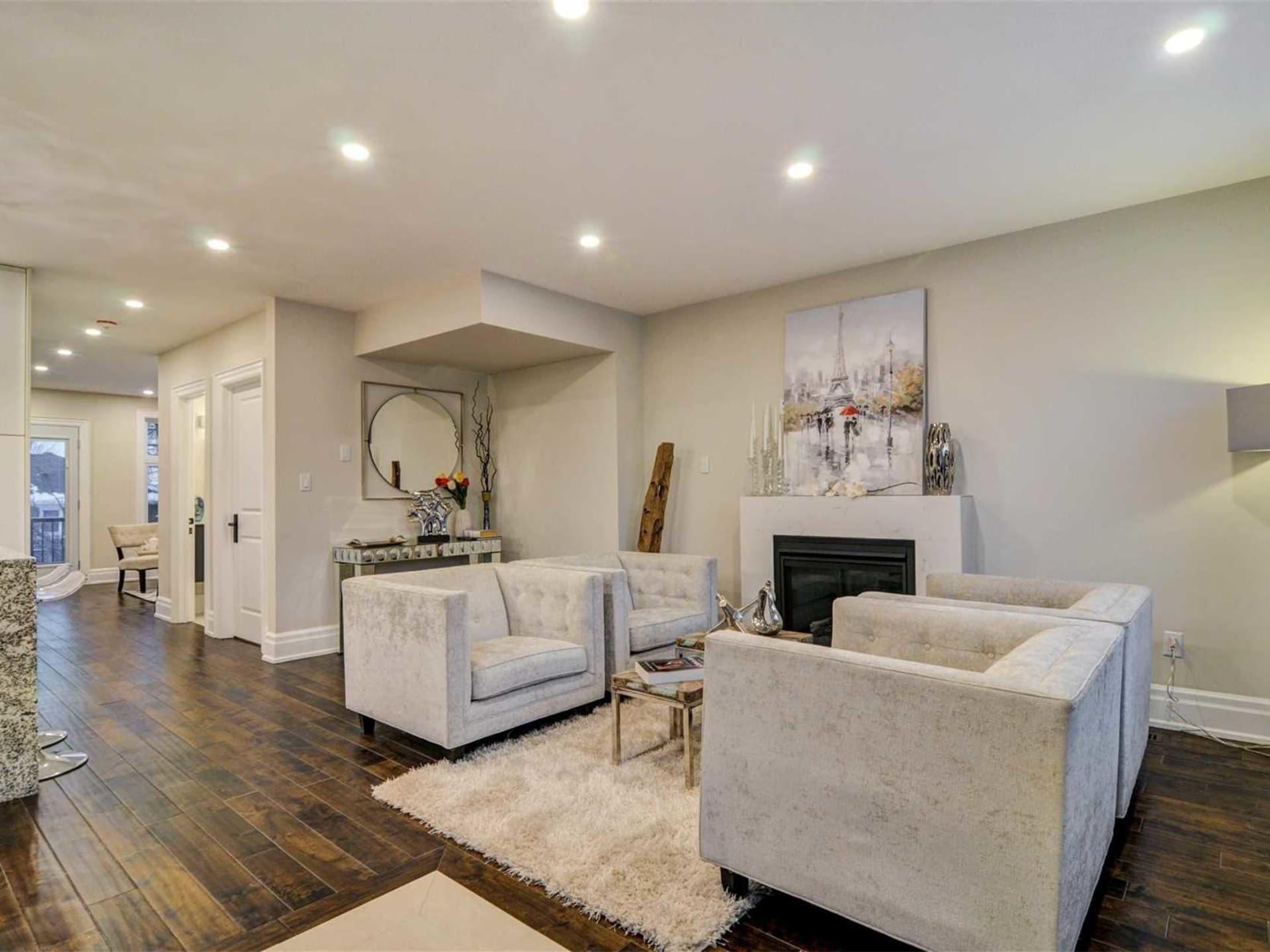Living Room, 9 Lloyd Manor, Toronto Home Staging