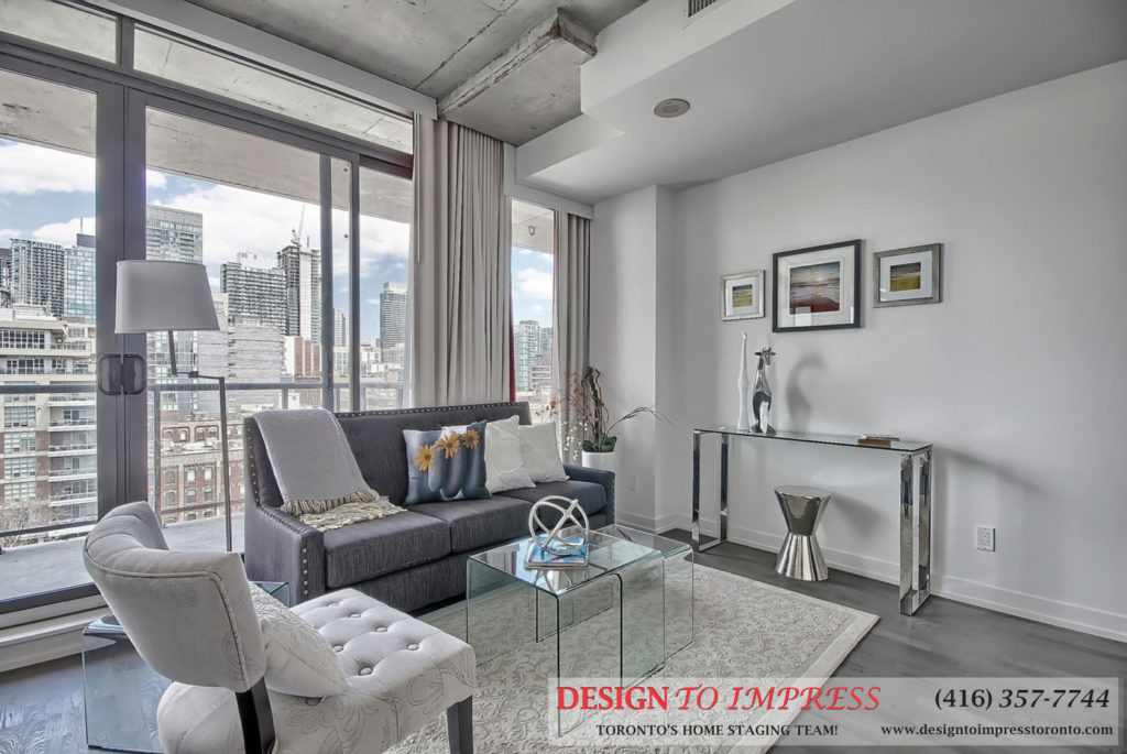 Living Room, 560 King St. West, Toronto Condo Staging