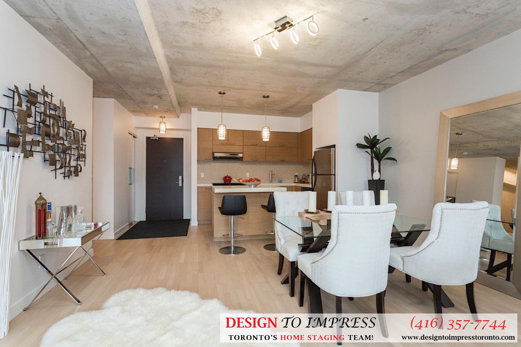 Living Room Hallway, 55 Stewart, Toronto Condo Staging