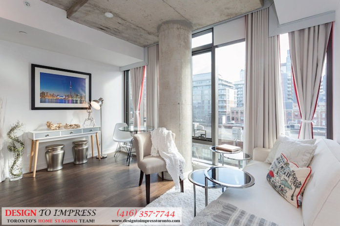 Living Room, Fashion House, Toronto Condo Staging