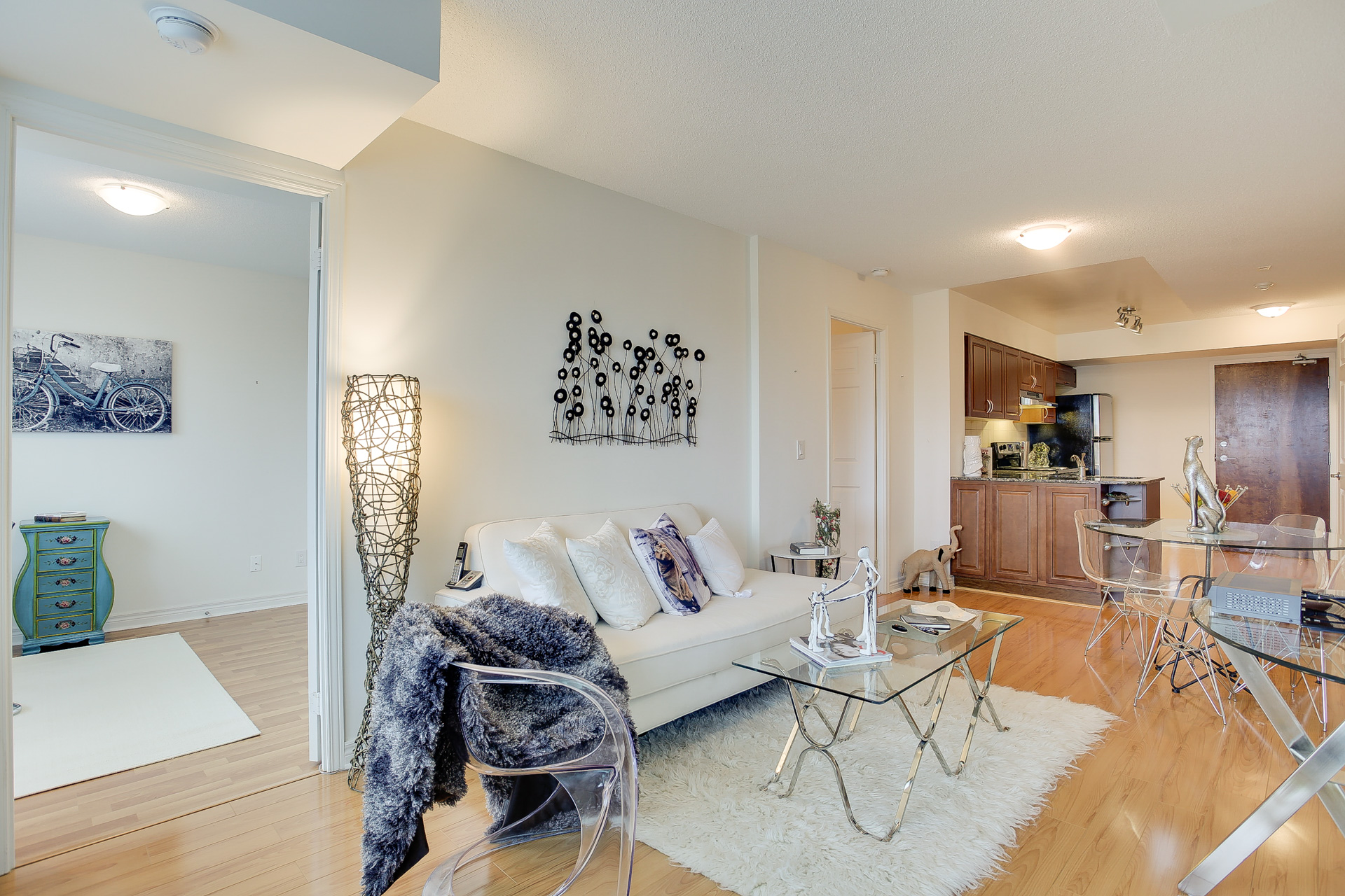 Living Room Open Concept, 60 Fairfax, Scarborough Condo Staging
