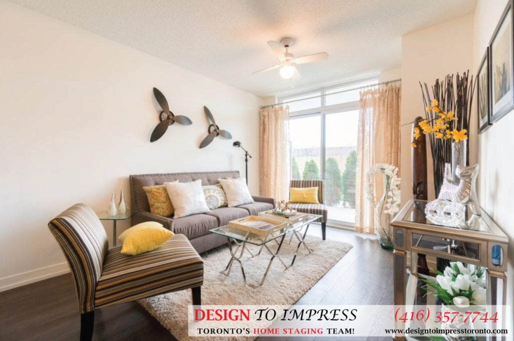 Living Room Open Concept, 812 Landsdowne, Toronto Home Staging