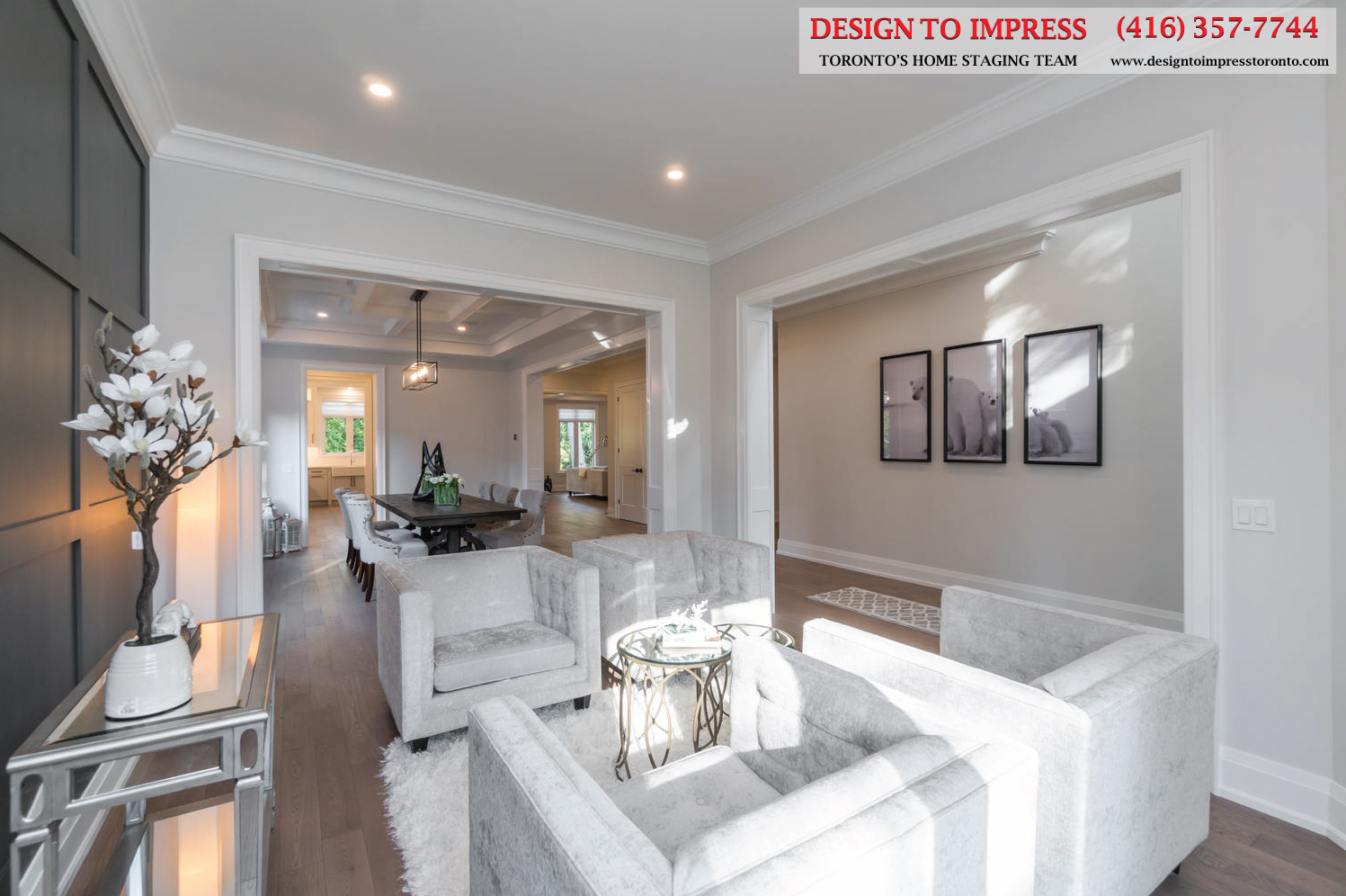 Living Room View, 383 Dyson, Toronto Home Staging