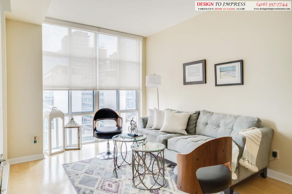Living Room, 438 Richmond, Toronto Condo Staging