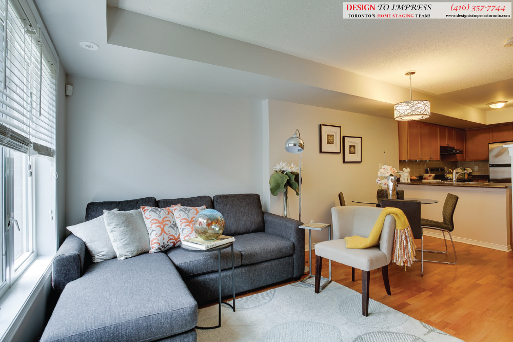 Living Room, 41 Foundry, Toronto Home Staging