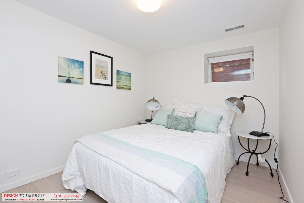 Lower Level Bedroom, 75 Parkway, Toronto Home Staging