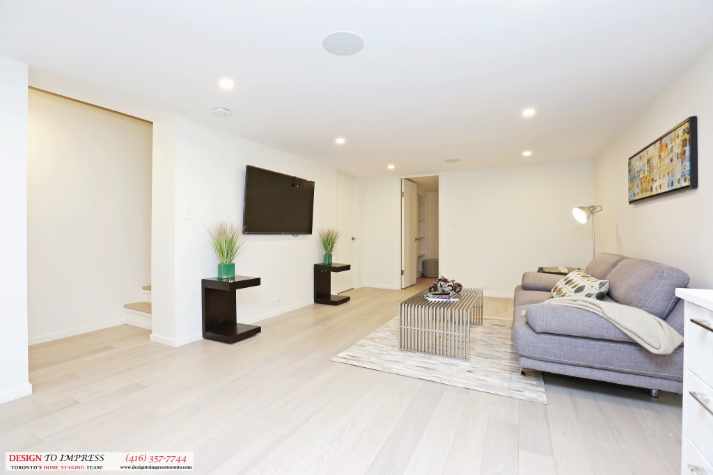 Lower Level Entrance, 75 Parkway, Toronto Home Staging