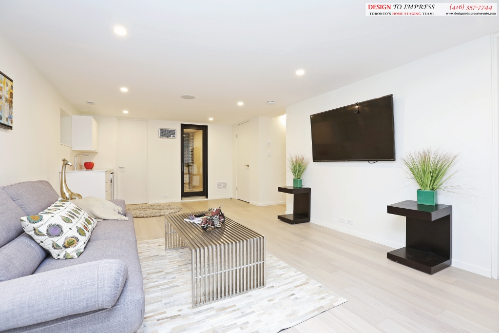Lower Level Living Room, 75 Parkway, Toronto Home Staging