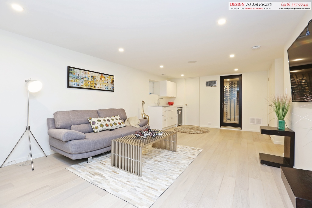 Lower Level Open Concept, 75 Parkway, Toronto Home Staging