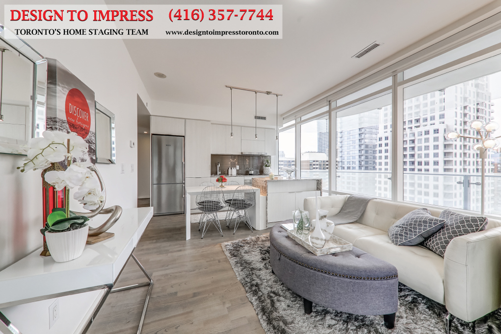 Main Area, 1 Bloor St. East, Toronto Condo Staging