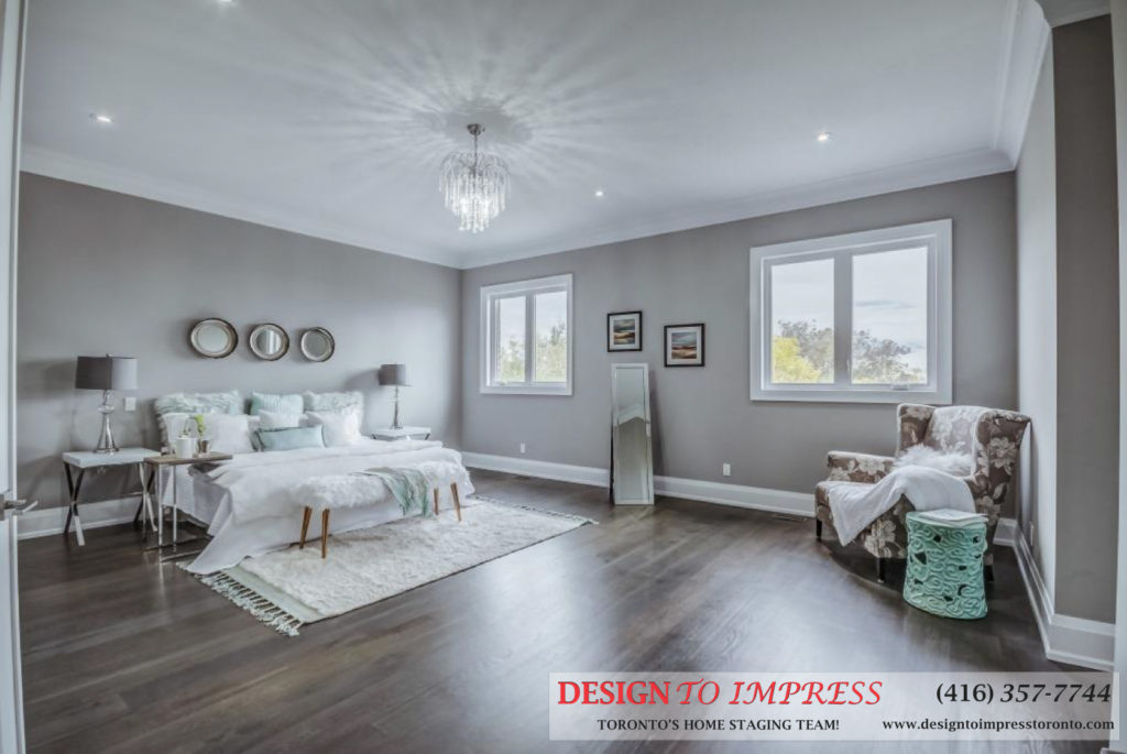 Main Bedroom, 1787 Spruce Hill, Pickering Home Staging