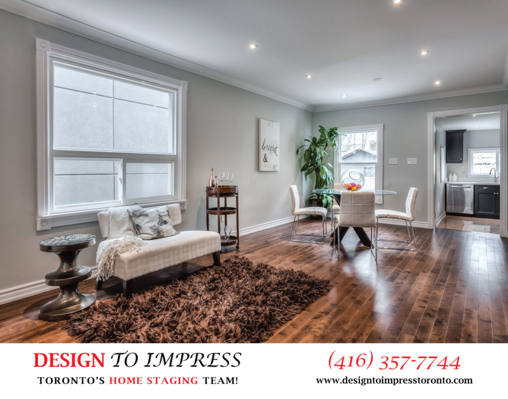Main Floor, 22 Rhodes, Toronto Home Staging