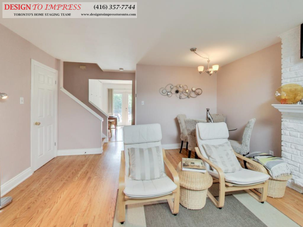 Main Floor, 41 Bournville, Scarborough Home Staging