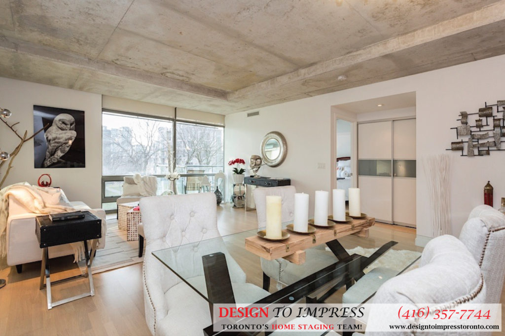 Main Floor Open Concept, 55 Stewart, Toronto Condo Staging