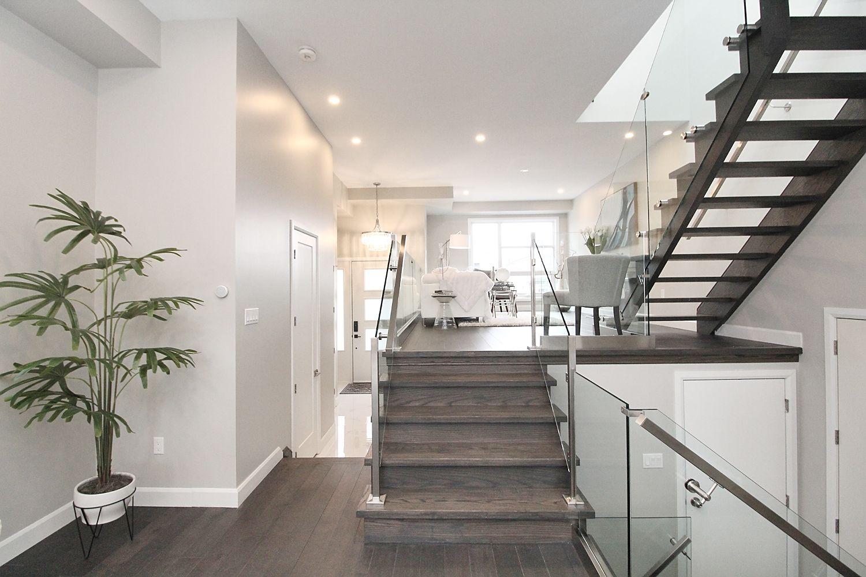 Main Floor Stairs, 182 Oak Park, East York Home Staging