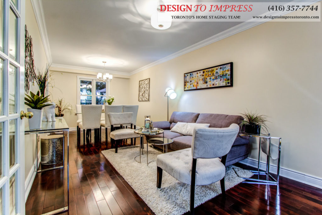Main Room, 133 Huntington Park, Thornhill Home Staging