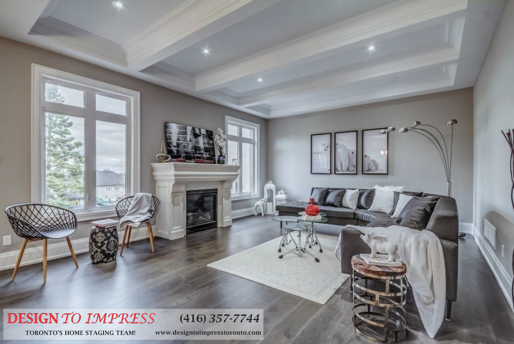 Main Room, 1787 Spruce Hill, Pickering Home Staging