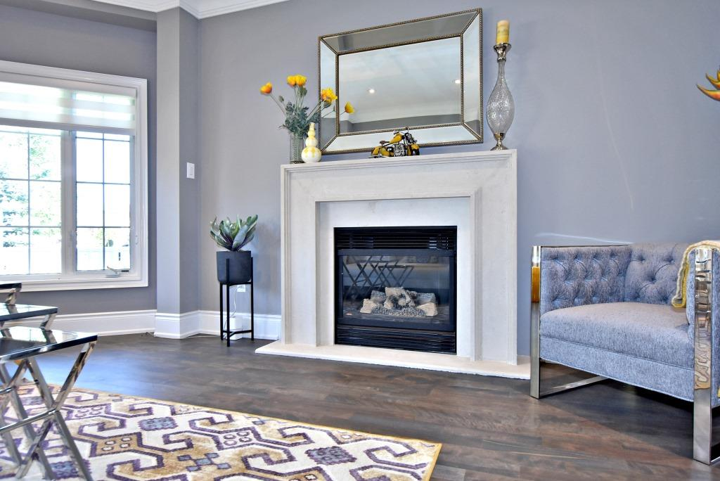 Mantle Area, 91 Wheeler, East York Home Staging