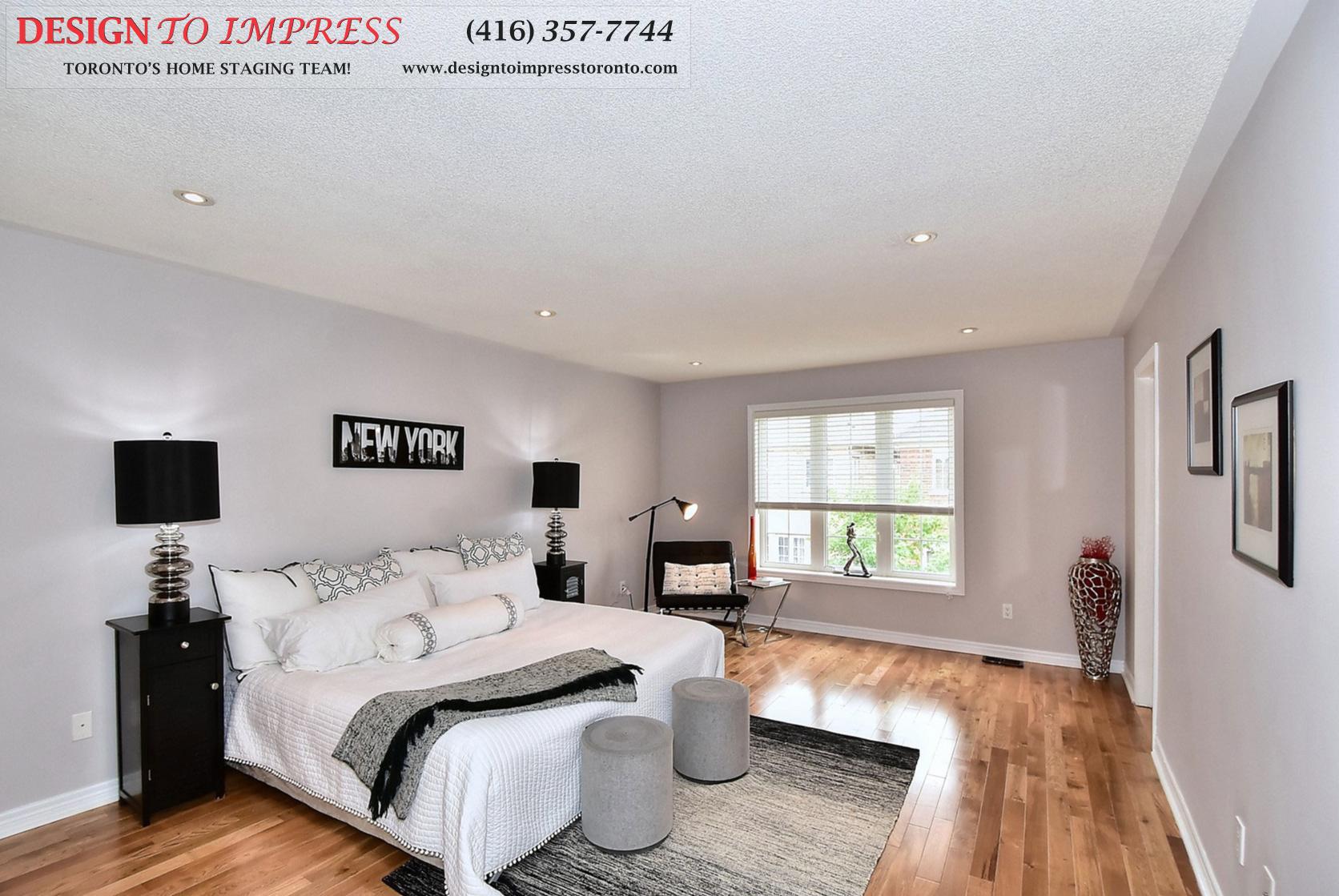 Master Bedroom, 132 Israel Zilber, Vaughan Home Staging