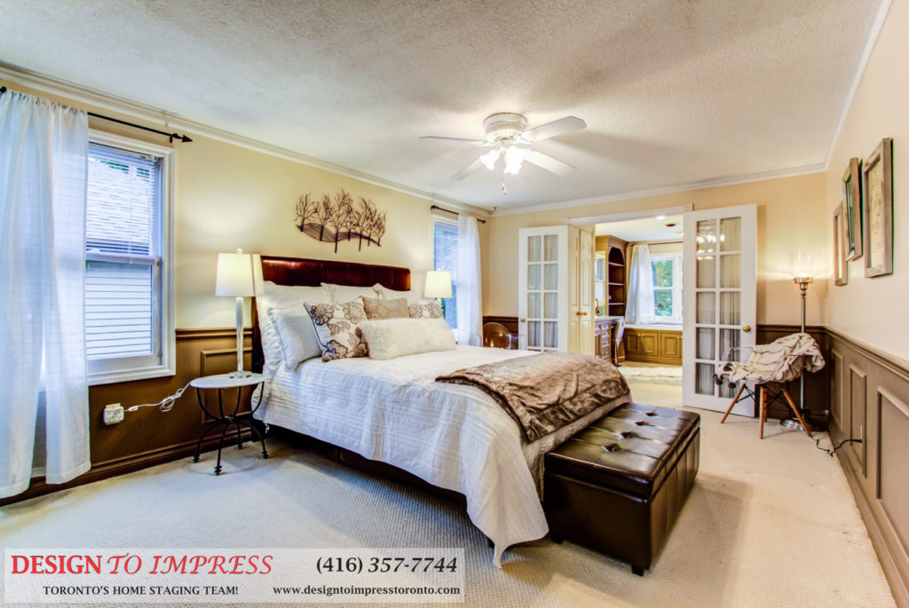 Master Bedroom, 133 Huntington Park, Thornhill Home Staging