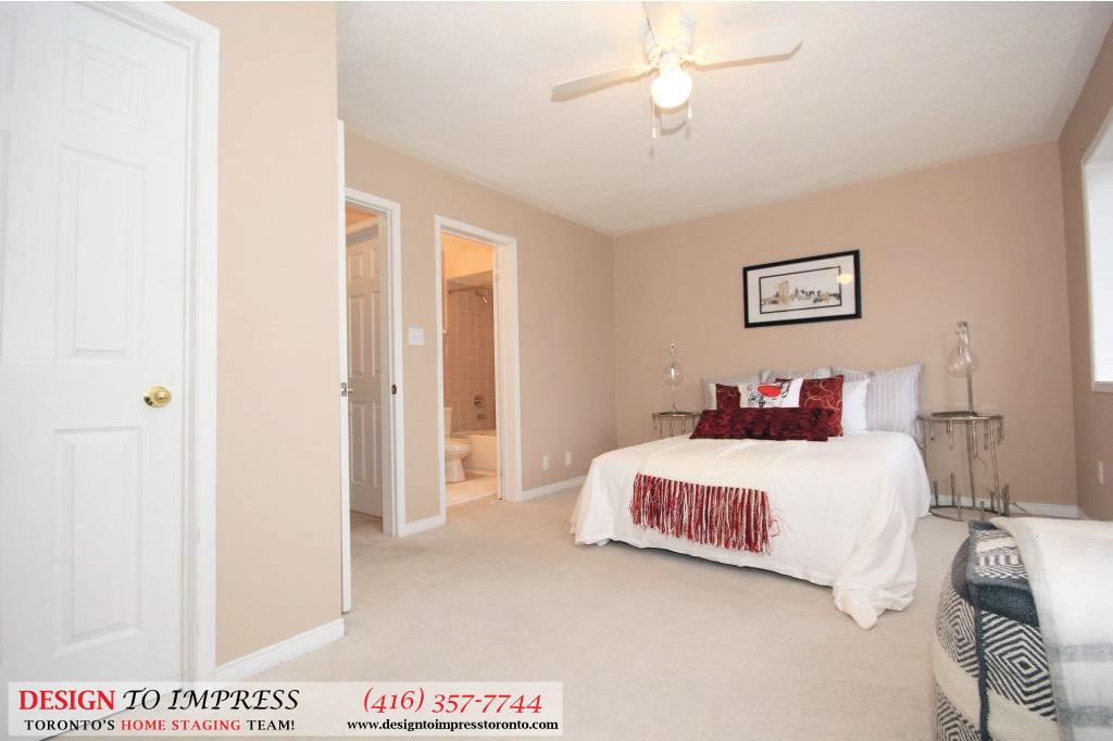 Master Bedroom, 133 Tarragona, Toronto Home Staging