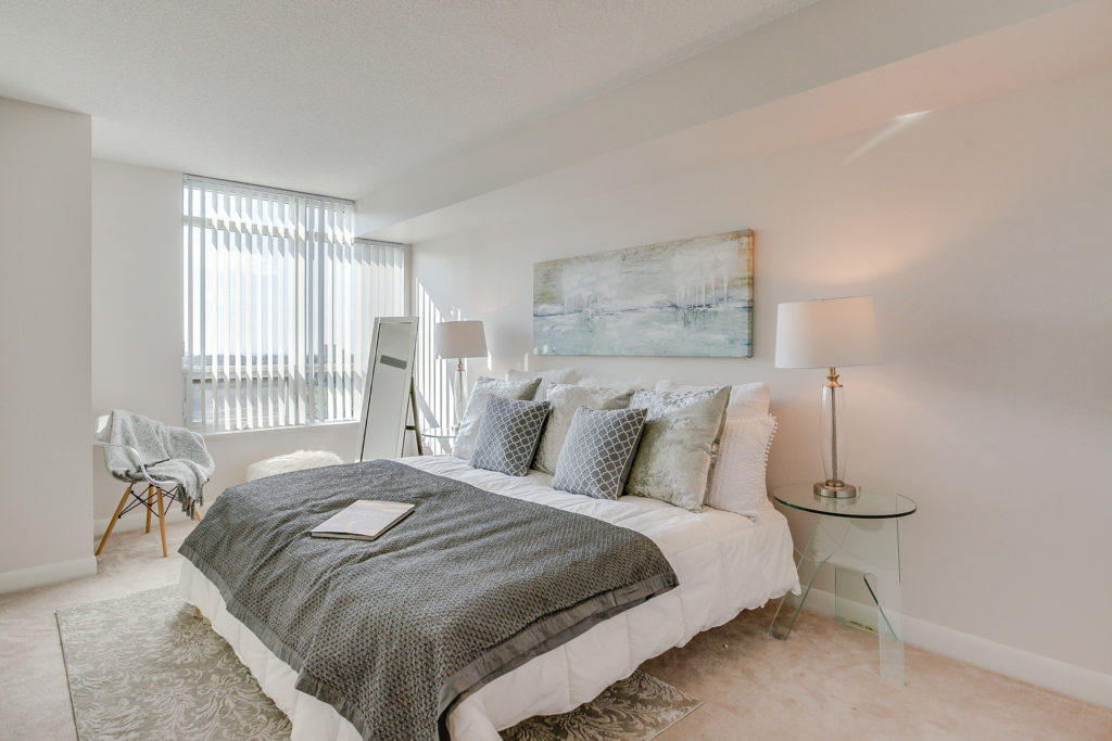 Master Bedroom, 235 Sherway Gardens, Etobicoke Home Staging