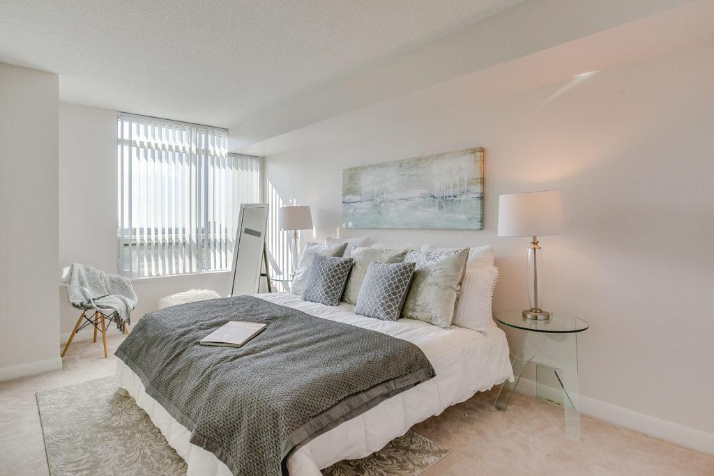 Master Bedroom, 235 Sherway Gardens, Etobicoke Home Staging