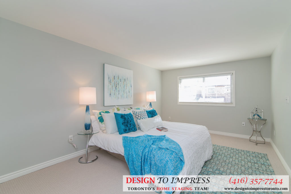 Master Bedroom, 230 Royal Orchard, Thornhill Home Staging