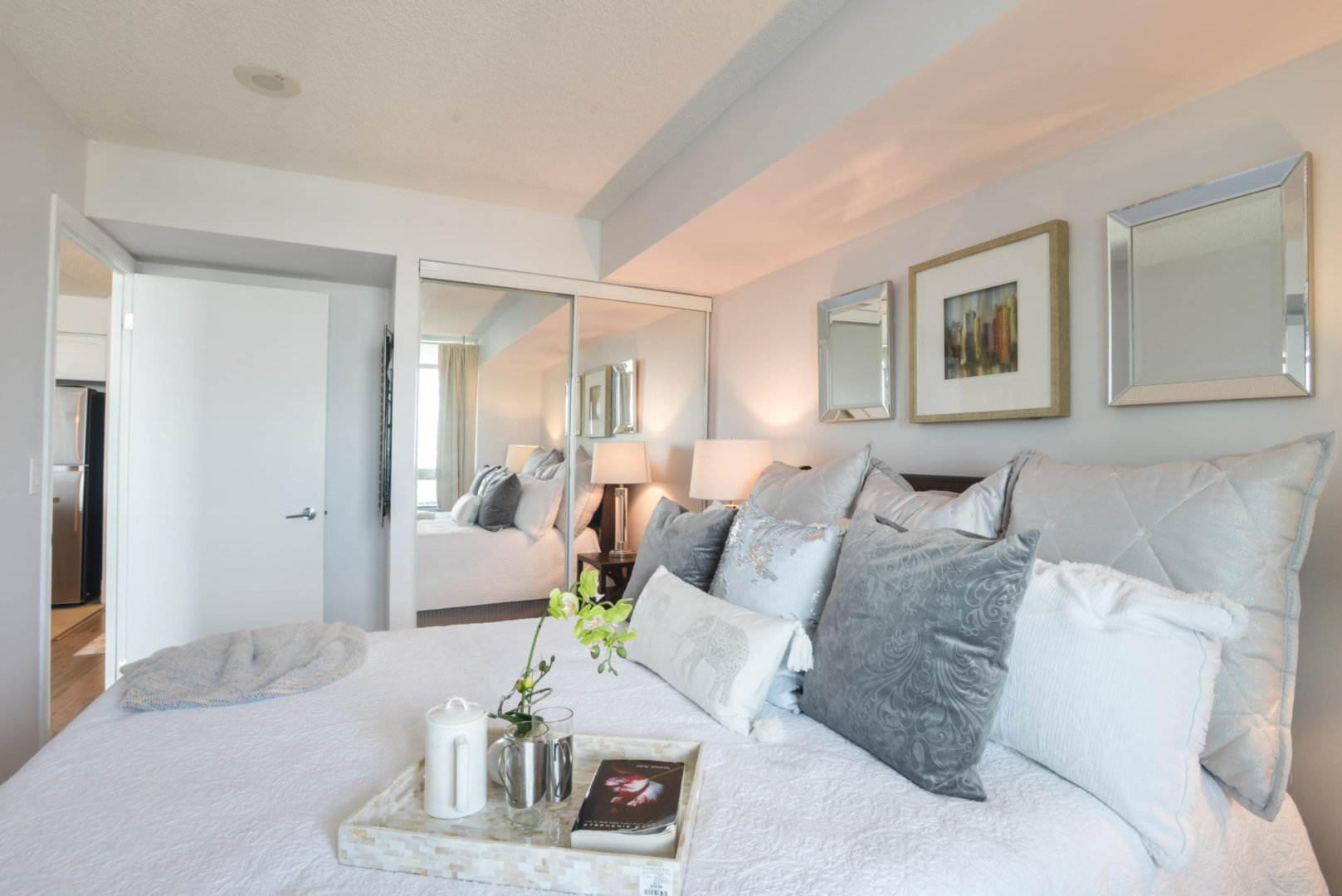 Master Bedroom, 231 Fort York, Toronto Condo Staging