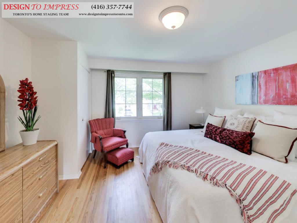 Master Bedroom, 41 Bournville, Scarborough Home Staging