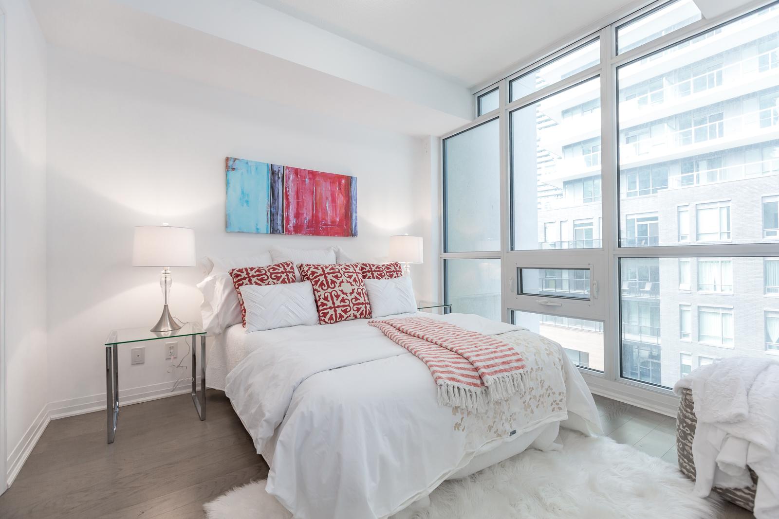 Master Bedroom, 59 Annie Craig, Toronto Condo Staging