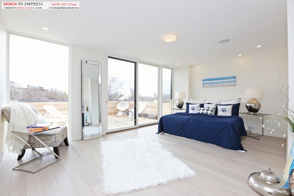 Master Bedroom, 75 Parkway, Toronto Home Staging
