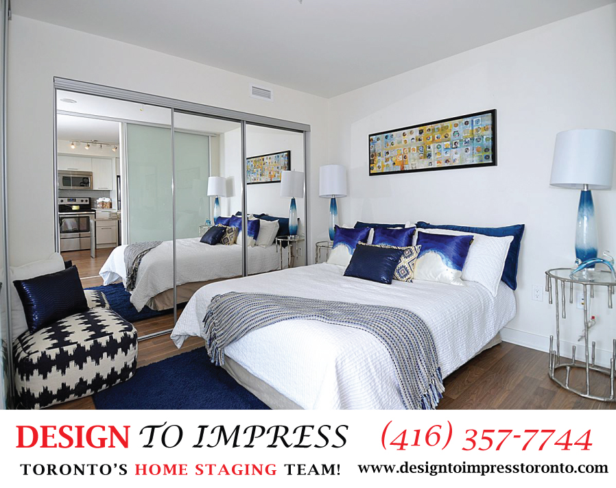 Master Bedroom, 78 Tecumseth, Toronto Condo Staging