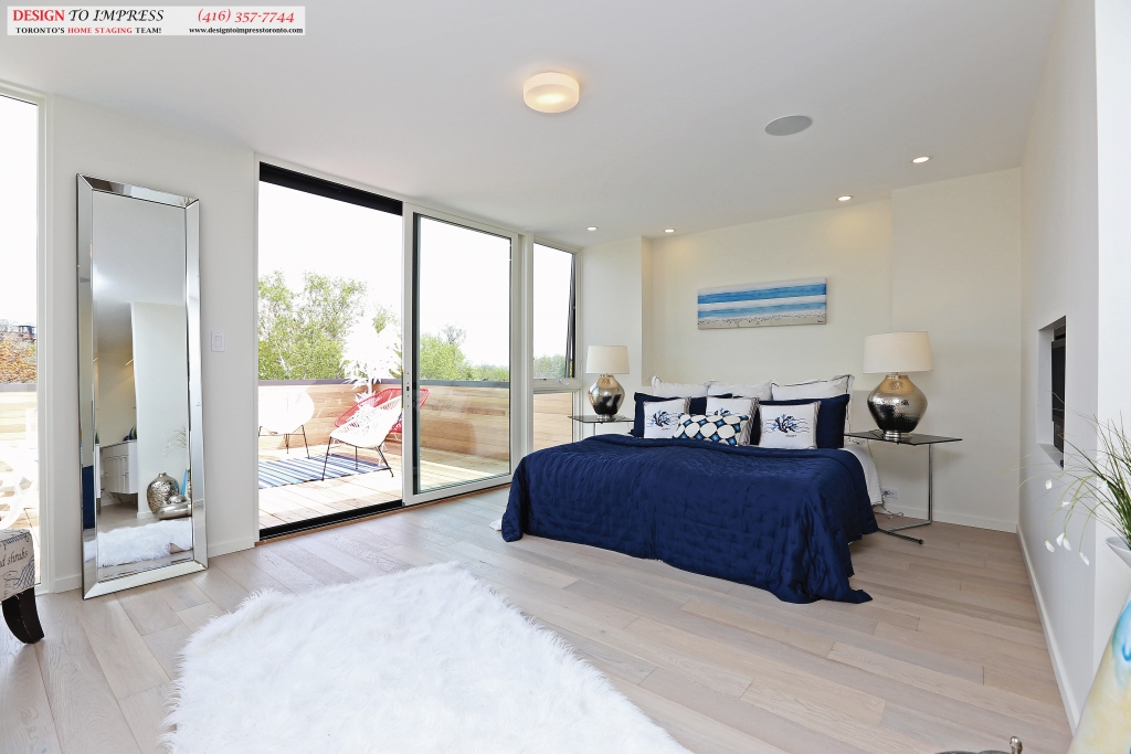 Master Bedroom Diagonal, 75 Parkway, Toronto Home Staging