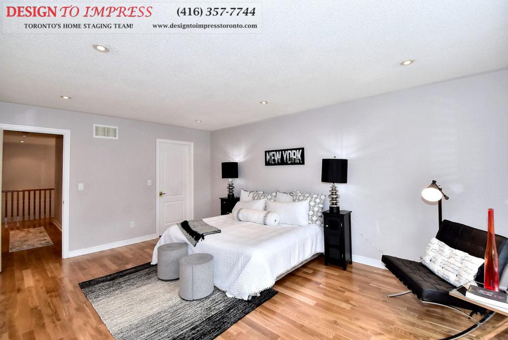 Master Bedroom Entrance, 132 Israel Zilber, Vaughan Home Staging