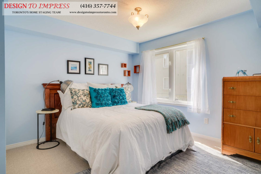 Master Bedroom, 31 Foundry, Toronto Home Staging