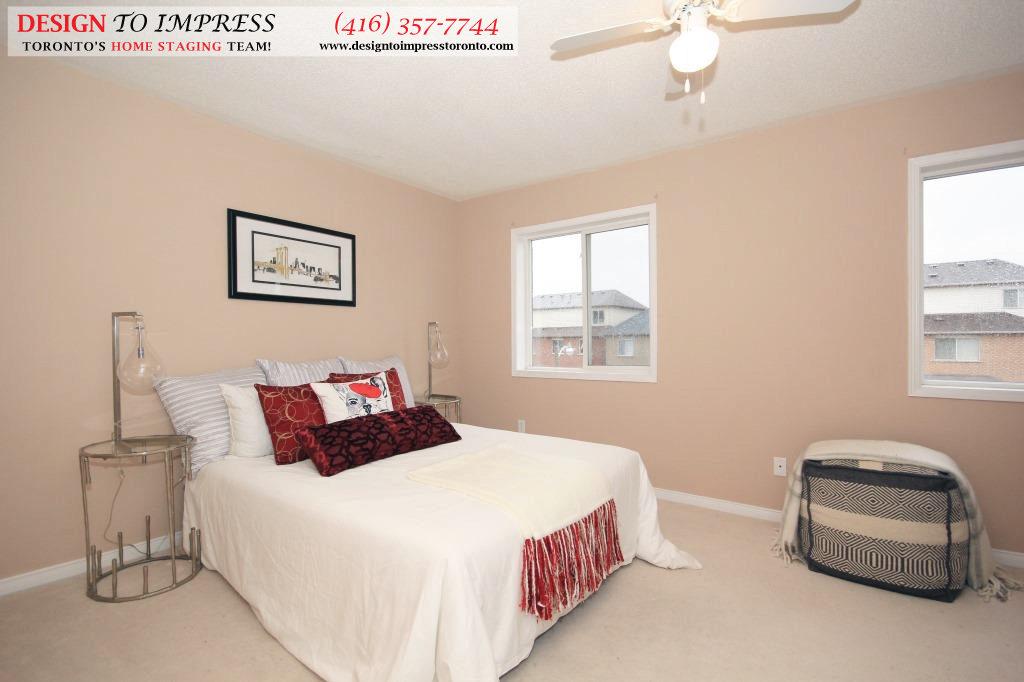 Master Bedroom Front View, 133 Tarragona, Toronto Home Staging
