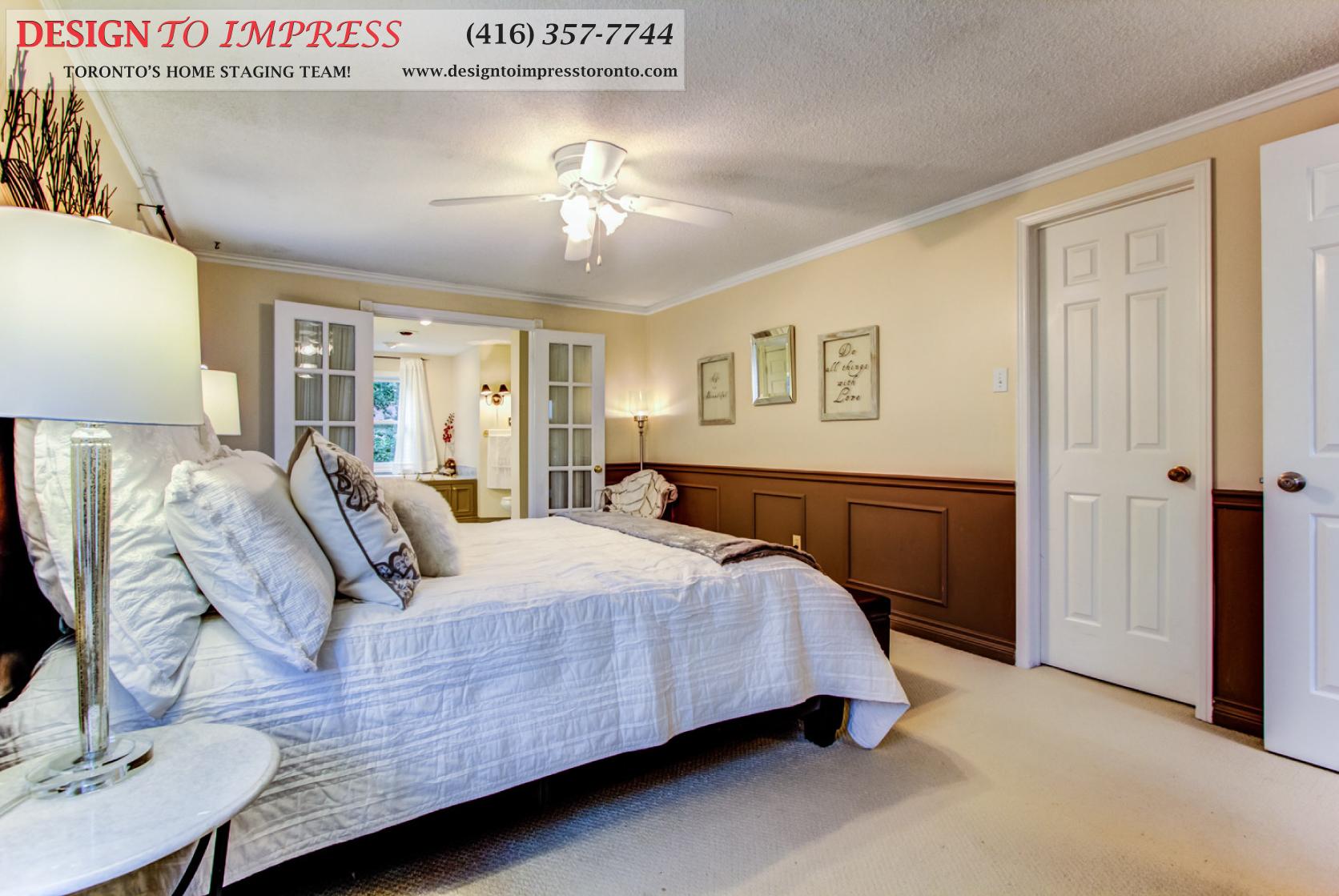 Master Bedroom, 133 Huntington Park, Thornhill Home Staging