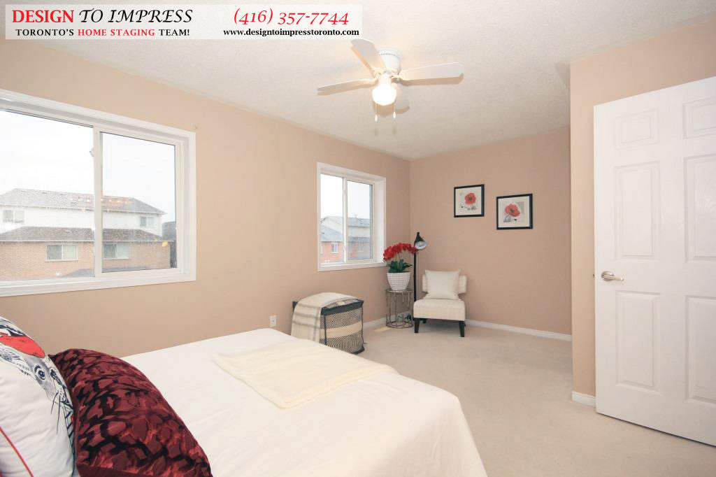 Master Bedroom Side View, 133 Tarragona, Toronto Home Staging