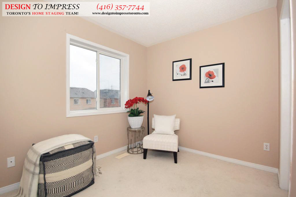 Master Bedroom Sitting Area, 133 Tarragona, Toronto Home Staging