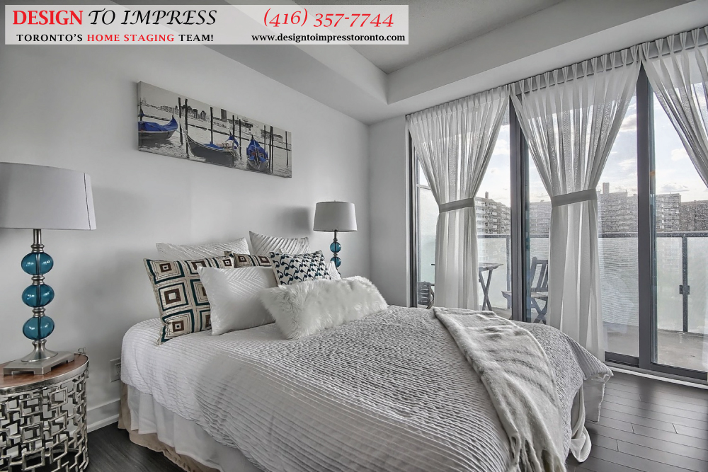 Master Bedroom Windows, 1815 Yonge, Toronto Condo Staging